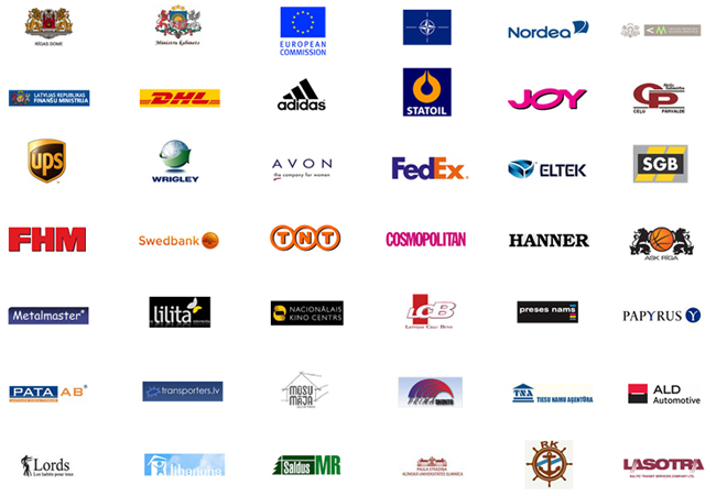 Logos of representative clients
